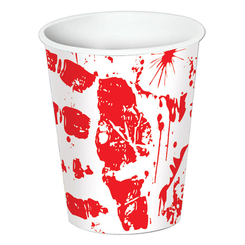 Bloody Handprints Cups, Size 9 Oz