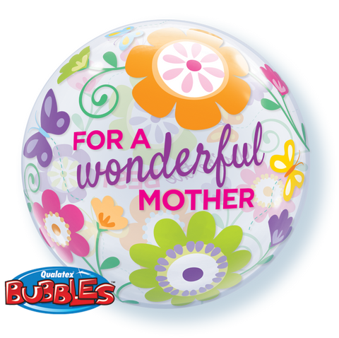 "22"" Burbuja, For a Wonderful Mother, You Are The Best, Jardin de Flores"