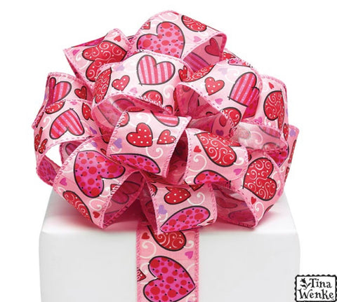 Cinta #9, Diseño Love N Hearts Wired Ribbon