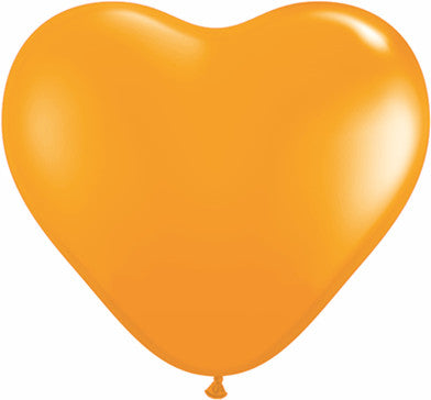 "06"" Corazon Naranja, Latex Solido"
