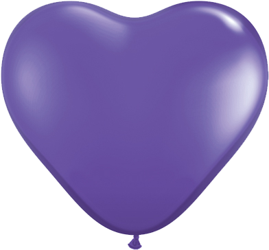 "06"" Corazon Violeta Purpura, Latex Solido"