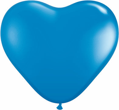 "06"" Corazon Azul Marino, Latex Solido"