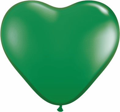 "06"" Corazon Verde, Latex Solido"