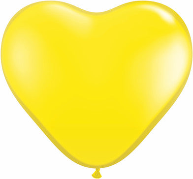 "06"" Corazon Amarillo, Latex Solido"