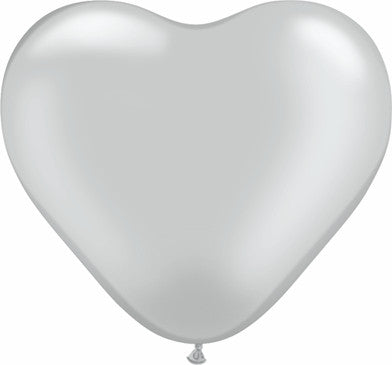 "06"" Corazon Plata, Latex Solido"