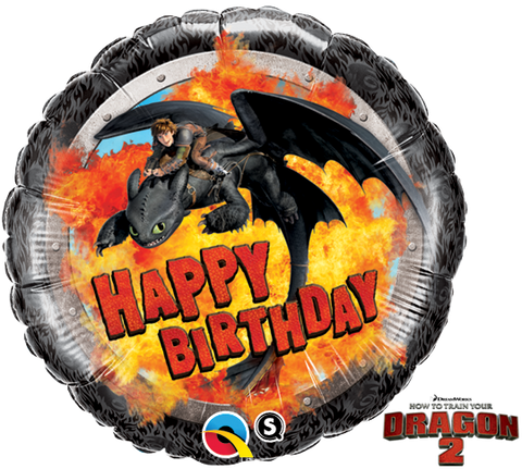 "18"" Redondo, Hiccup & Toothless, How To Train Your Dragon 2, Happy Birthday"