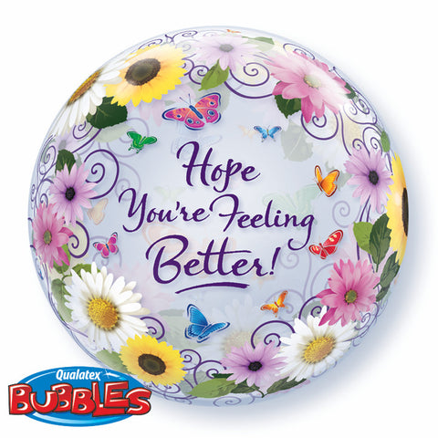 "22"" Burbuja, Hope You Are Feeling Better, Jardin de Flores"