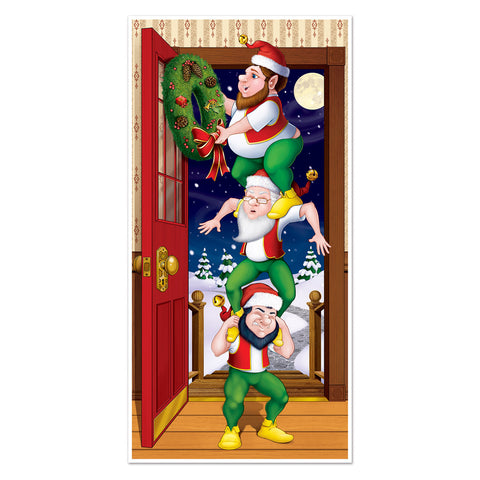 "Christmas Elves Door Cover, Size 30"" x 5'"