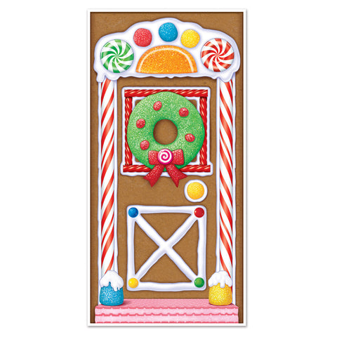 "Gingerbread House Door Cover, Size 30"" x 5'"