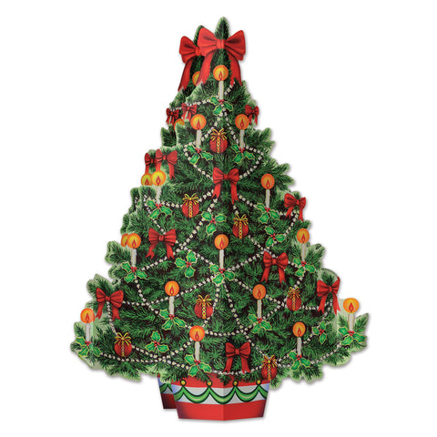 3-D Christmas Tree Centerpiece, Size 11¾""