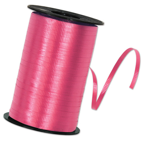 "Cerise Curling Ribbon, Size 3/16"" x 500 yards"
