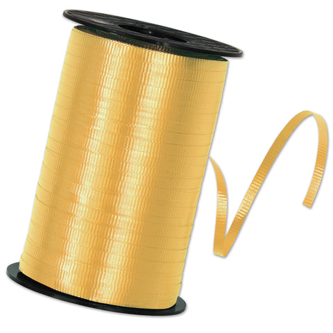 "Gold Curling Ribbon, Size 3/16"" x 500 yards"