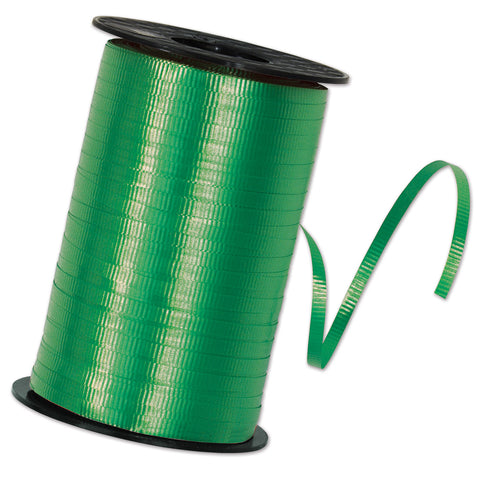 "Green Curling Ribbon, Size 3/16"" x 500 yards"
