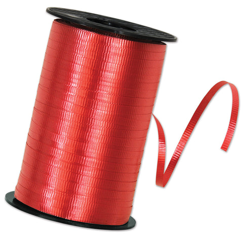 "Red Curling Ribbon, Size 3/16"" x 500 yards"