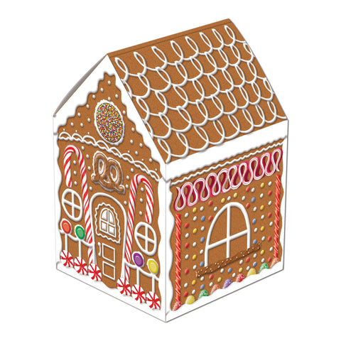 Gingerbread House Centerpiece, Size 8""