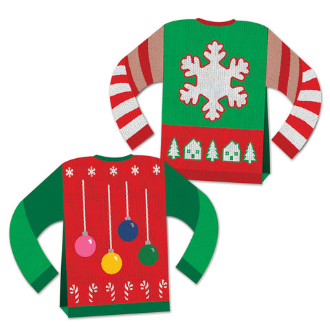 3-D Ugly Sweater Centerpiece, Size 8""