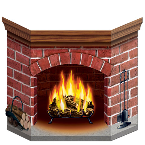 "Brick Fireplace Stand-Up, Size 3' 1"" x 25"""