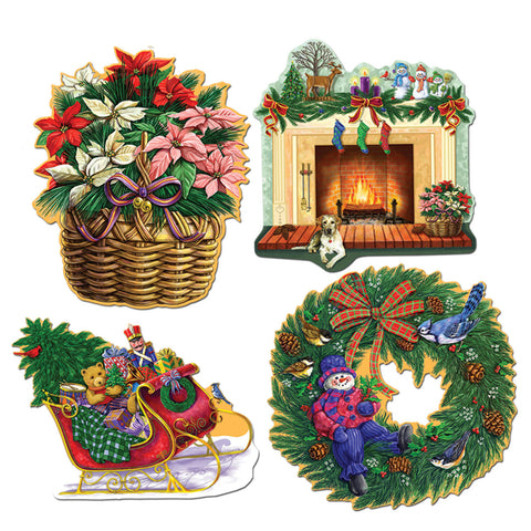 "Christmas Holiday Recortes, Size 13¼""-14¾"""