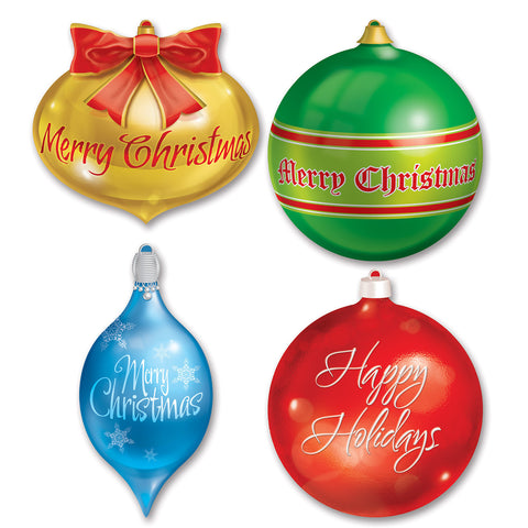 "Pkgd Christmas Ornament Recortes, Size 12½""-17"""