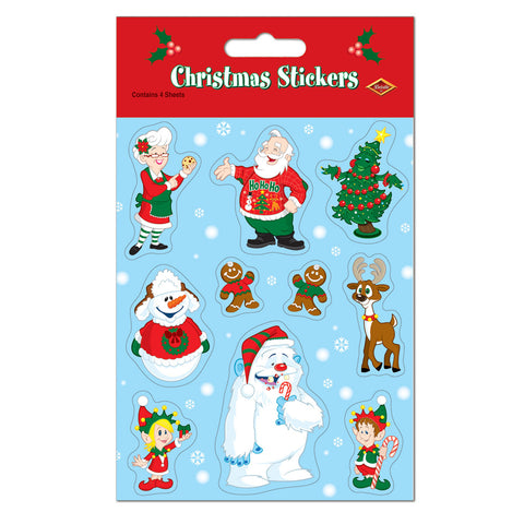"Christmas Calcomanias, Size 4¾"" x 7½"""