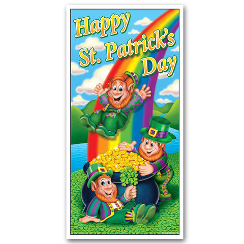 "Happy St Patrick's Day Door Cover, Size 30"" x 5'"