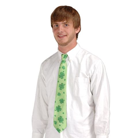 Shamrocks Tie, Size Full-Size