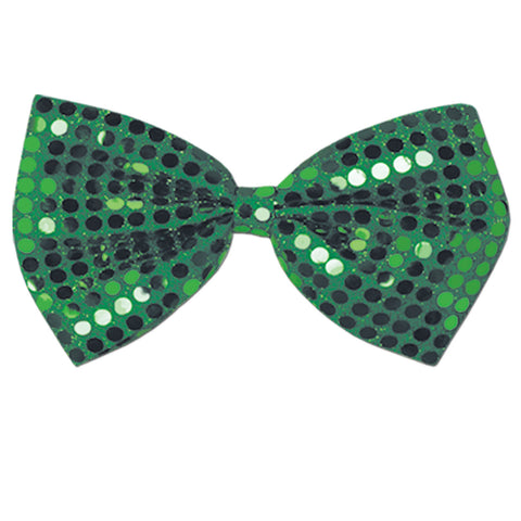 "Green Glitz 'N Gleam Bow Tie, Size 4¼"" x 7"""