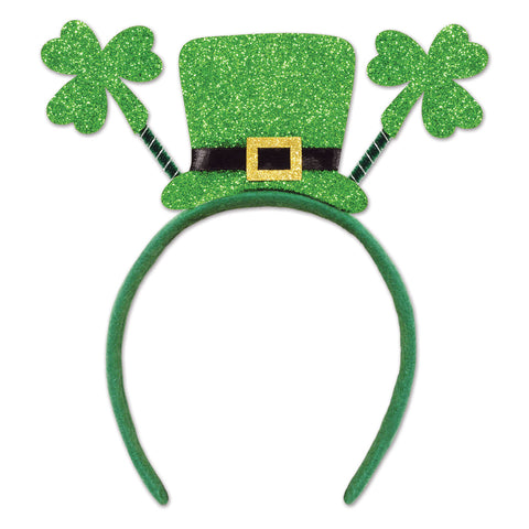 Glittered Shamrock Boppers w/Top Hat