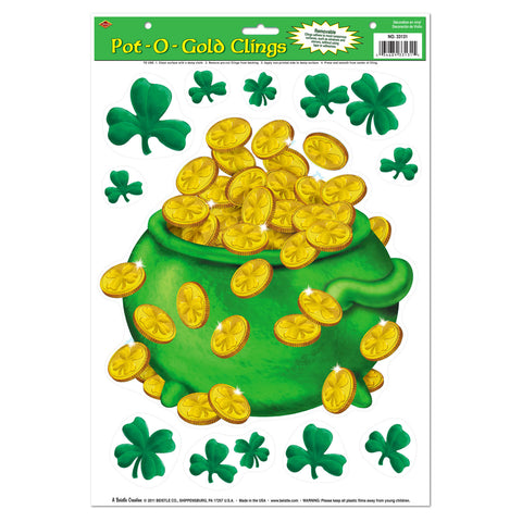 "Pot-O-Gold Adherivos, Size 12"" x 17"" Sh"