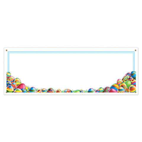 Easter Egg Hunt Sign Banner, Size 5' x 21""