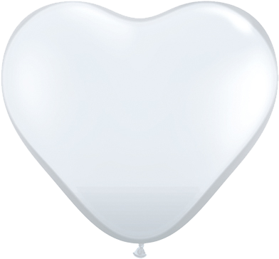 "11"" Corazon, Diamante Transparente, Latex Solido"