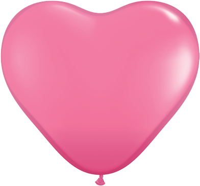 "11"" Corazon Rosado, Latex Solido"