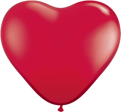"11"" Corazon Rojo Rubi, Latex Solido"