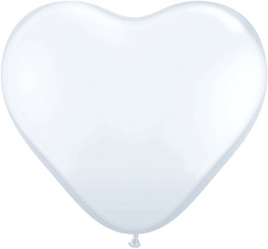 "11"" Corazon Blanco, Latex Solido"