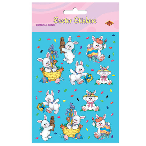 "Easter Bunny Calcomanias, Size 4¾"" x 7½"""
