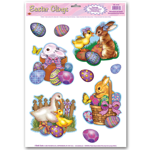 "Easter Animal Adherivos, Size 12"" x 17"" Sh"