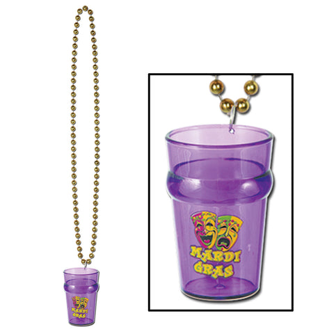 "Collares w/Mardi Gras Glass, Size 33""/2½ Oz"