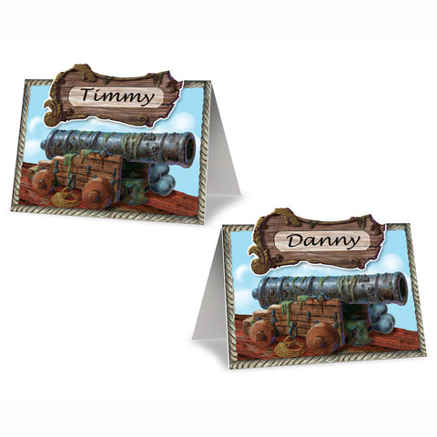 "Pirate Cannon Place Cards, Size 2½"" x 4"""