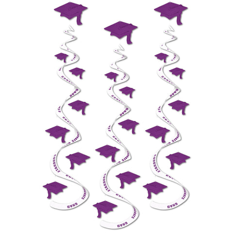 Printed Grad Cap Whirls, Size 30""