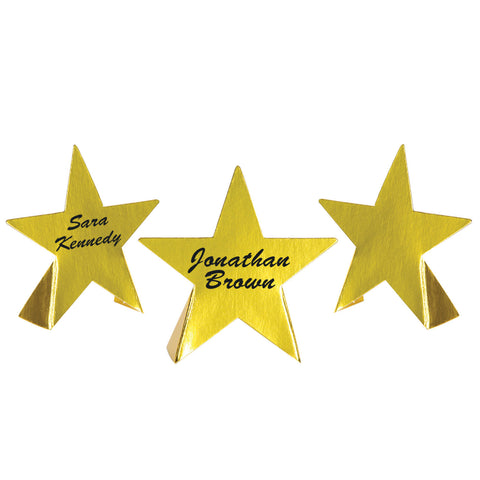 Foil Star Place Cards, Size 3½""