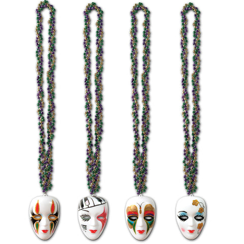 Braided Collares w/Mime Medallions, Size 36""