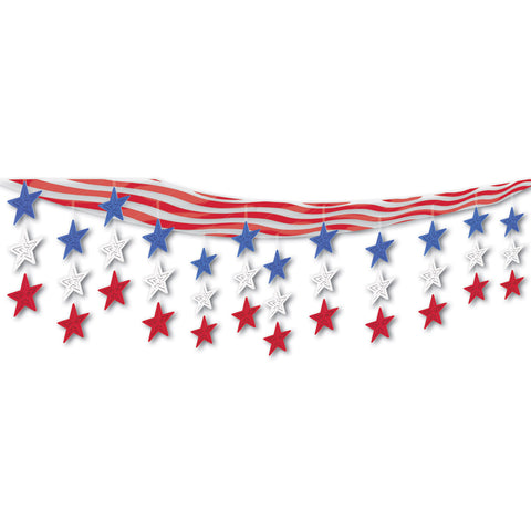 "Stars & Stripes Ceiling Decor, Size 12"" x 12'"