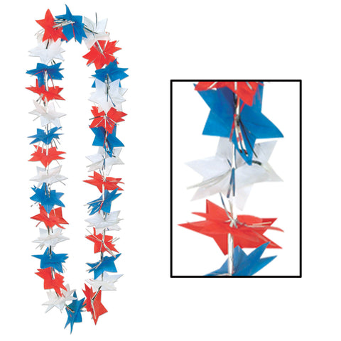 Patriotic Star Party Lei, Size 36""