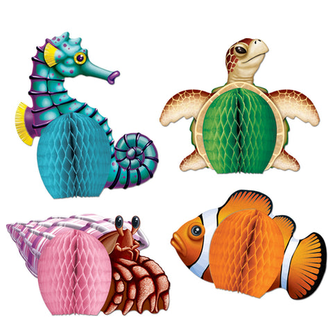 Sea Creatures Mini Centros de Mesa, Size 5½""