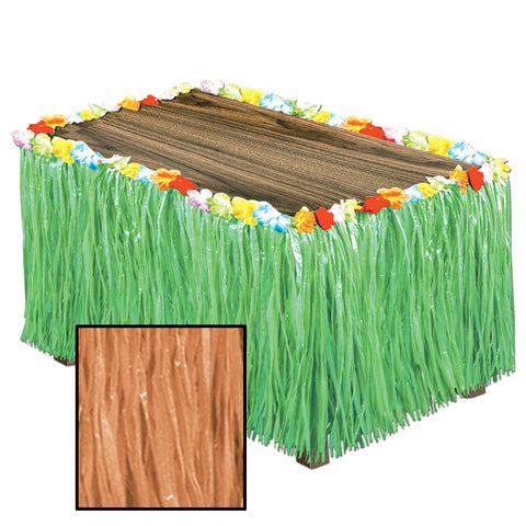 "Artificial Grass Table Skirting, Size 30"" x 9'"