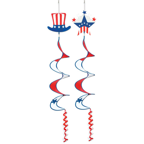 Patriotic Wind-Spinners, Size 3' 6""