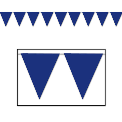 "Blue Pennant Banner, Size 11"" x 12'"
