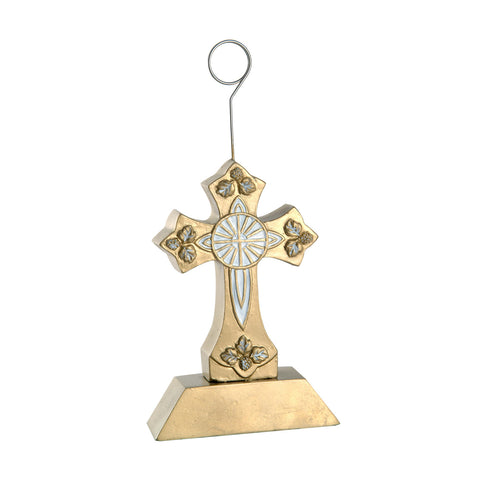 Cross Photo/Balloon Holder, Size 6 Oz