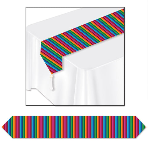 "Printed Fiesta Table Runner, Size 11"" x 6'"
