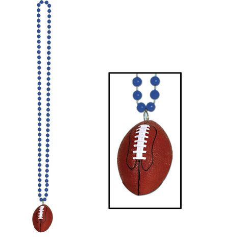 Collares w/Football Medallion, Size 33""